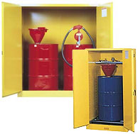 vertical drum storage cabinets