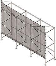 flush mount safety netting for pallet rack