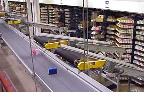 conveyor with ceiling hangars