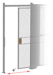 4' wide hinged security gate