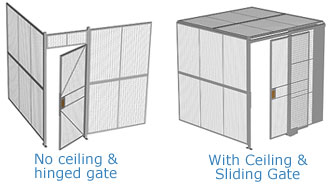 Two Wall Welded Wire Partitions