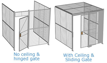 Three Wall Welded Wire Partitions