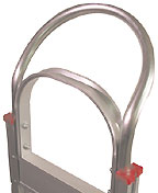 Aluminum hand truck with continuous loop handle