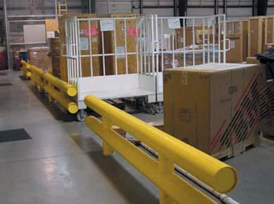 Steel guard rails safety railing industrial for Mezzanine guard rail