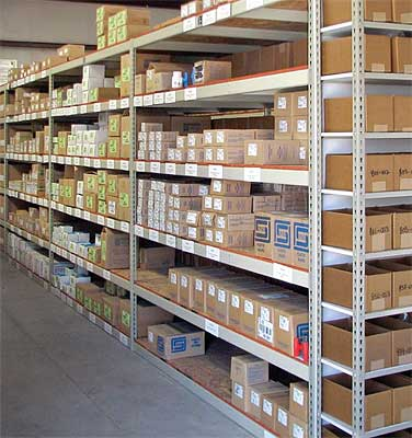 Industrial Shelving in a Warehouse