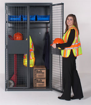 Industrial security storage cabinet