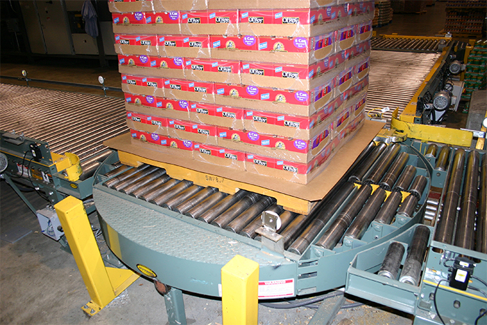 pallet conveyor system in Springdale, Arkansas