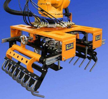 Robotic Gripper Design http://www.cisco-eagle.com/material-handling-systems/robotic-automation-systems/robotic-palletizing-palletizers/robotic-bag-palletizing