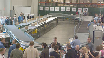 test conveyor loop at RFID center