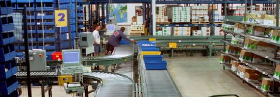 conveyor systems in distribution