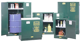 Safely and securely store pesticides herbicides fungicides wood preservatives disinfectants and other turf chemicals. & Safety Storage Cabinets for Pesticides