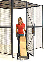 Woven wire security cage