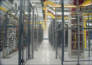 data center wire security partitions