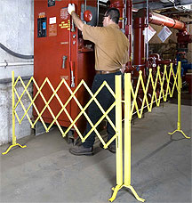 mobile folding gate for maintenance