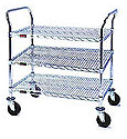 3-shelf wire cart