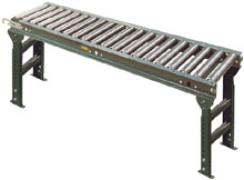 Medium Duty Gravity Roller Conveyors with Supports Included