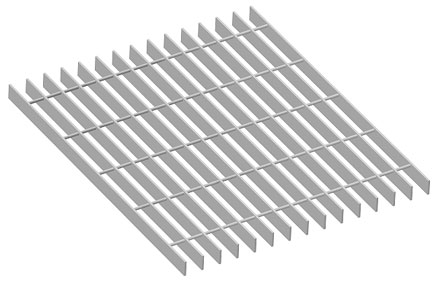1 x 18 painted steel bar grating naamm open design for ventilation andor fire regulation if assembly processes with small parts are present bar grate mezzanine floor