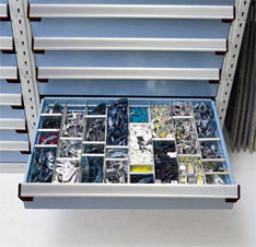 rousseau heavy duty modular, dividable drawer cabinets