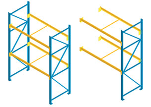 structural pallet rack, selective type