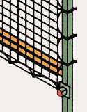 detail: flush mount safety netting