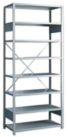 Rousseau open steel industrial shelving unit