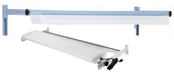 Overhead light for workbenches