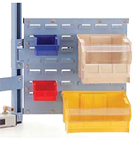 articulating bin holder for workstation