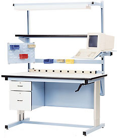 Adjustable Height Ergonomic Workbenches Modular
