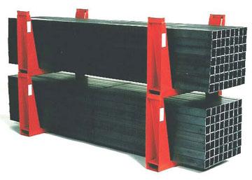 stacking U-racks with bar stock