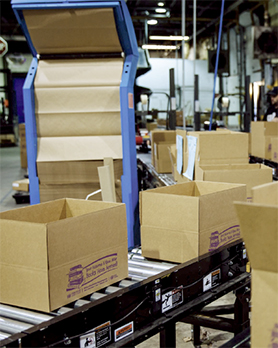 Accumulation Conveyor feeding a packaging area