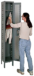 Hallowell Ventilated Athletic Locker