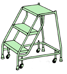Welded Steel Mobile Ladder Stands