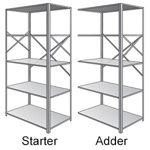 Western Pacific Open Steel Shelving - Pacific Line