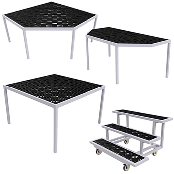Aluminum Grow Tables with Decking