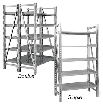 "Steel Pick Shelving - 78"" High"