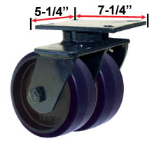 RWM Industrial Caster  76 Series Dual Casters with Wheels