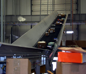 trash conveyor system