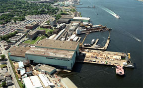 Alectric Boat's Submarine Facility in Connecticut