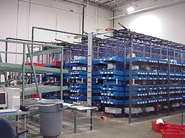 carousel system at Hitachi Texas Warehouse