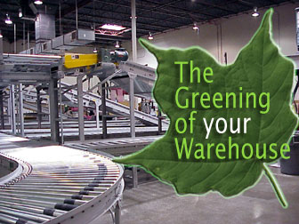 green warehouse conveyor