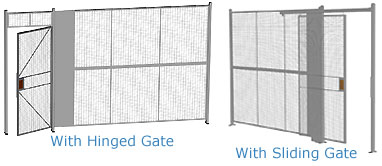 Welded one wall wire partition