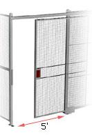 5' wide sliding security gate