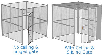Four Wall Welded Wire Partitions