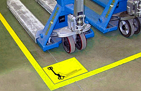 pallet jacks in an assigned spot