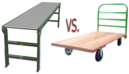 conveyors vs. carts for transport