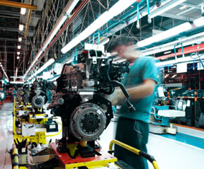 Manufacturing - motors at an automotive plant