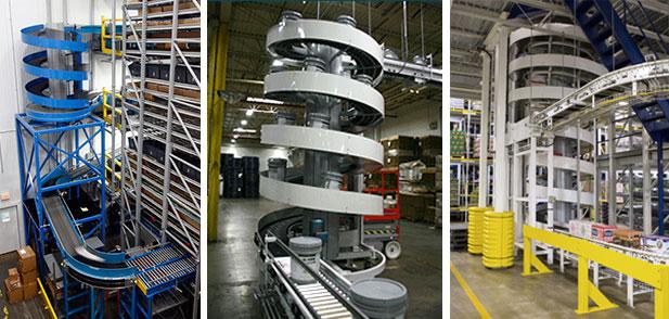 spiral conveyor applications