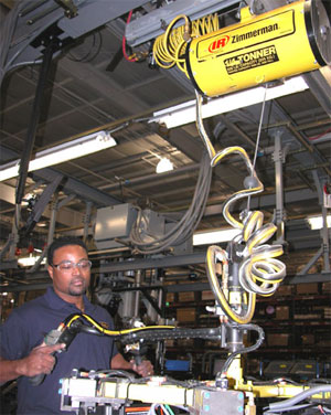 ergonomic balancer in a manufacturing operation
