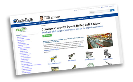 cisco-eagle conveyor site