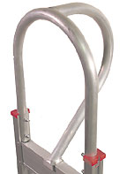 Aluminum hand truck handle d-loop